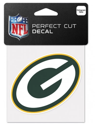 Green Bay Packers Primary Logo 4X4 Perfect Cut Decal