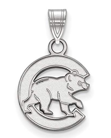 MLB Chicago Cubs Sterling Silver MLB LogoArt Chicago Cubs Small Pendant