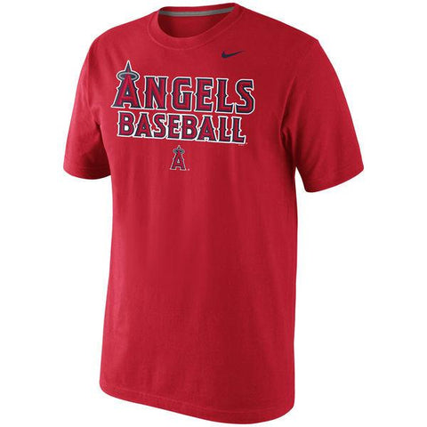 Men's MLB Los Angeles Angels of Anaheim Nike Home Practice T-Shirt