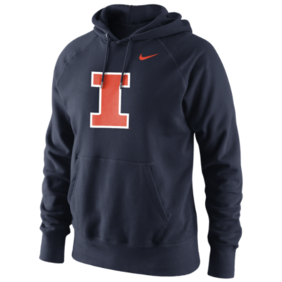 Men's Illinois Fighting Illini Navy Classic Logo Fleece Hoodie