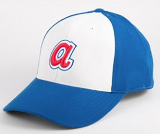 Men's American Needle 1974 Atlanta Braves Royal/White Cooperstown Fitted Cap