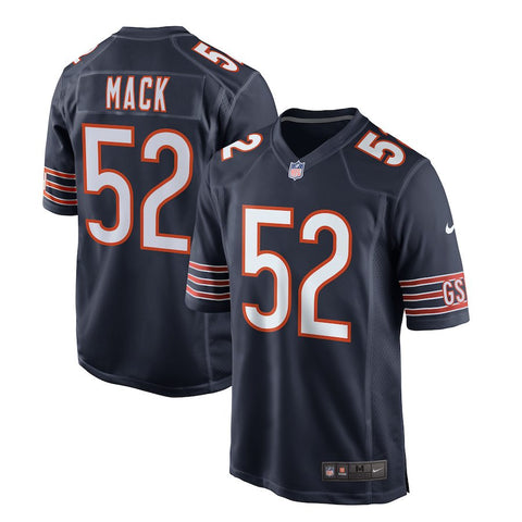 Chicago Bears Khalil Mack Mens Nike Navy Replica Game Jersey