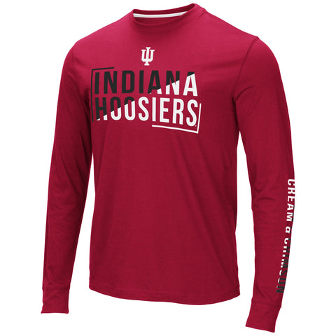 Mens Indiana Hoosiers Lutz Long Sleeve Tee