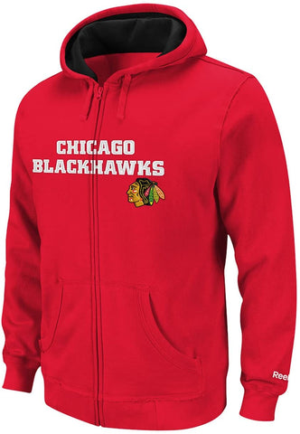 Chicago Blackhawks Kids NHL Sportsman Full Zip Hooded Sweatshirt - Red