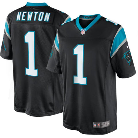 Men's Carolina Panthers Cam Newton Nike Black Limited Jersey