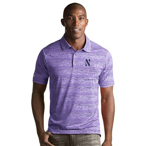 Men's NCAA Northwestern Wildcats Formation Polo Shirt By Antigua