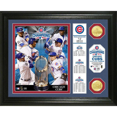 "MLB Chicago Cubs 2016 World Series Champions ""Banner"" Bronze Coin Photo Mint"