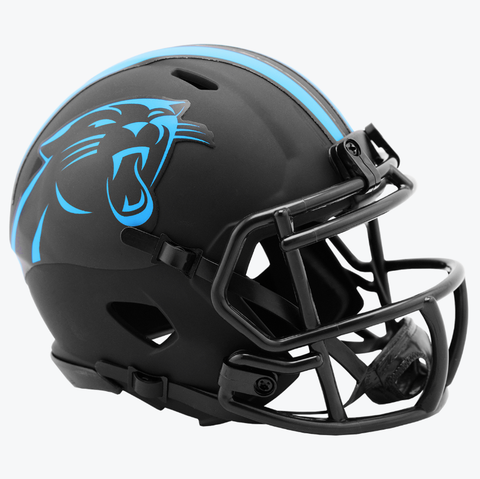 NFL Carolina Panthers Black Eclipse Riddell Mini Helmet