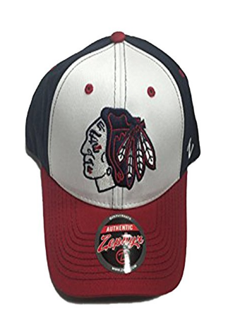 Mens Chicago Blackhawks Zephyr NHL Patriot Staple Adjustable hat