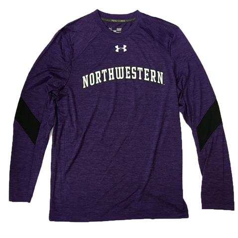 Men's Under Armour Northwestern Wildcats Sideline Training HeatGear Purple Long Sleeve T-Shirt