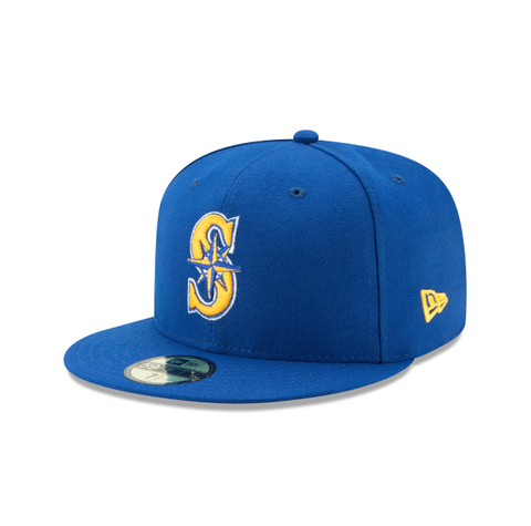 Men's Seattle Mariners New Era Royal Game Authentic Collection Alternate 2 On-Field 59FIFTY Fitted Hat