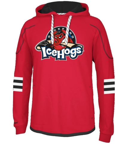 Rockford Icehogs Men's Red Hoodie