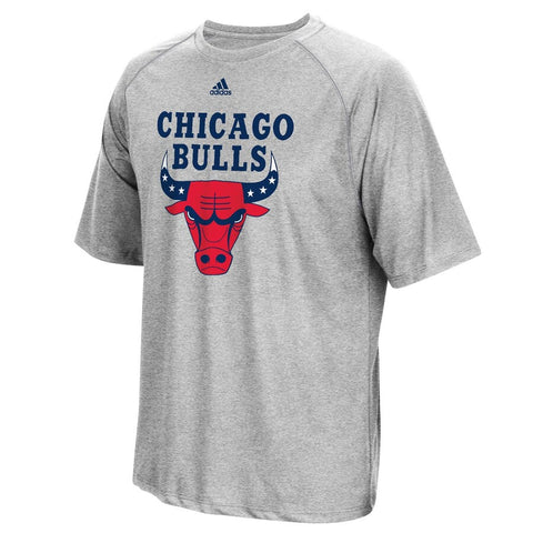 Chicago Bulls adidas Hoops for Troops T-Shirt - Gray