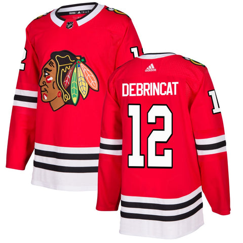 Mens Chicago Blackhawks Alex DeBrincat adidas Red Authentic Player Jersey