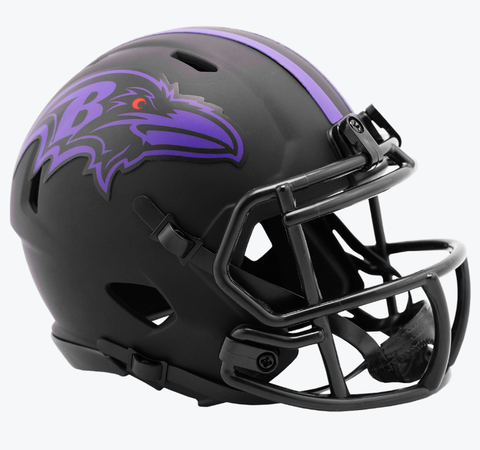 NFL Baltimore Ravens Black Eclipse Riddell Mini Helmet