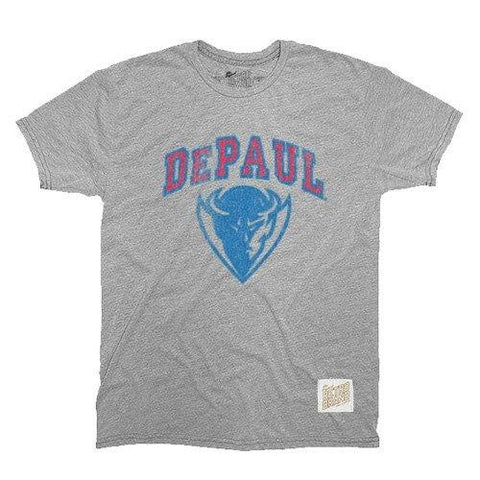 Men's NCAA DePaul Blue Demons Retro Brand Gray TriBlend Tee