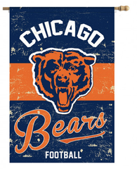 "Chicago Bears 44"" x 29"" Vintage Vertical House Flag"