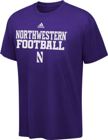 Northwestern Wildcats adidas Purple Official Football Practice T-shirt