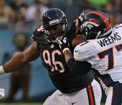 Akiem Hicks Chicago Bears Action Photo (8X10)