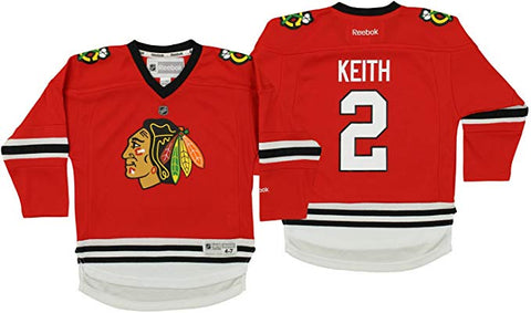 Chicago Blackhawks Duncan Keith Child (4-7) Home Red Jersey