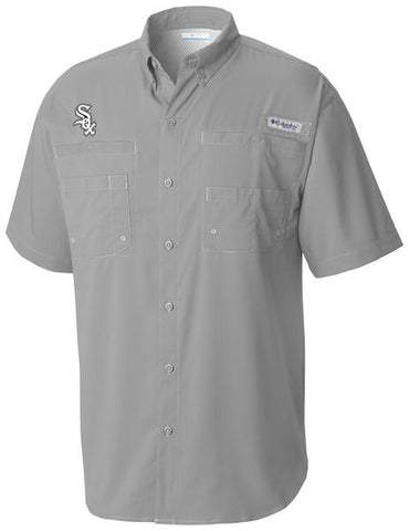 Men's Chicago White Sox Gray Tamiami Button Down Shirt By Columbia
