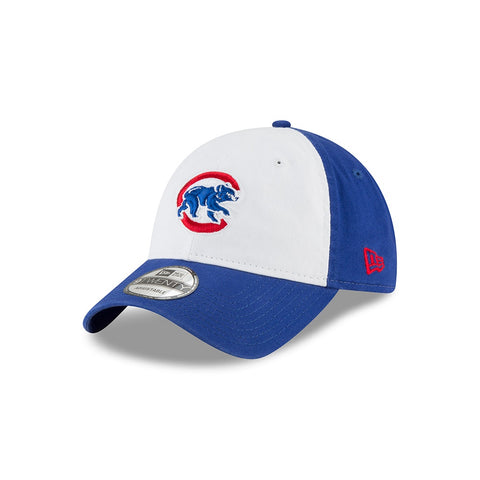 Chicago Cubs Walking Bear Logo White Panel Core Classic Adjustable Hat By New Era