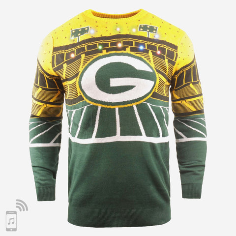 Mens Green Bay Packers Light Up Bluetooth Sweater By Foco