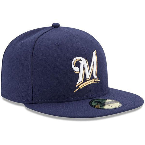 Men's Milwaukee Brewers Authentic On Field Game 59FIFTY Cap