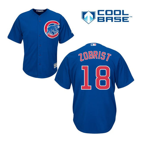 Chicago Cubs Ben Zobrist Cool Base Replica Alternate Blue Jersey