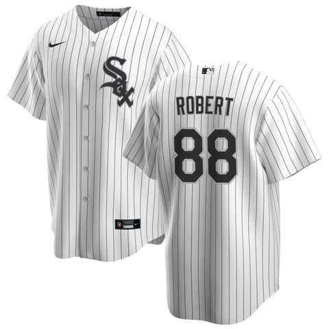 NIKE Men's Luis Robert Chicago White Sox White Home Premium Stitch Replica Jersey