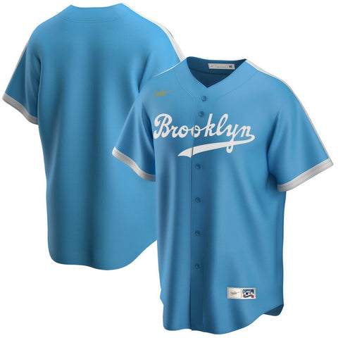 Men's Brooklyn Dodgers Nike Light Blue Alternate Cooperstown Collection Team Jersey