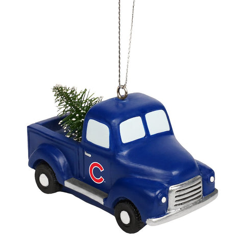 Chicago Cubs Truck With Tree Ornament