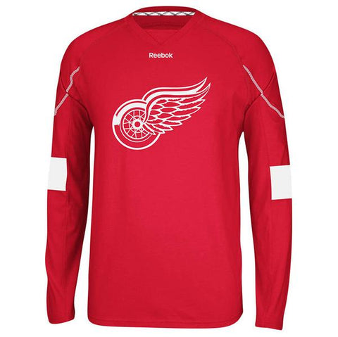 Mens Detroit Red Wings Long Sleeve Team Jersey Tee