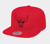 Chicago Bulls Mitchell & Ness NBA Raised Perimeter Snapback Cap