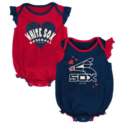 Infant Chicago White Sox Girls Double Trouble 2 Pack Creeper Set