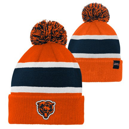 Youth Chicago Bears NFL 100th Anniversary Rugby Cuffed Pom Knit