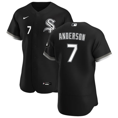 Men's Chicago White Sox Tim Anderson Nike Black Alternate Authentic Player Jersey