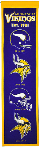 Minnesota Vikings Official NFL Wool Banner by Winning Streak