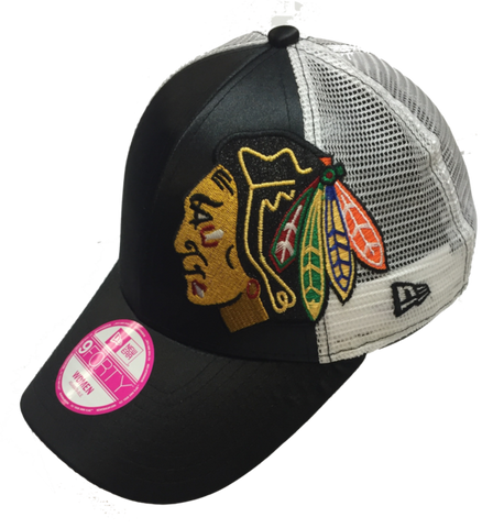 Chicago Blackhawks Womens Team Glitzer Adjustable Cap By New Era