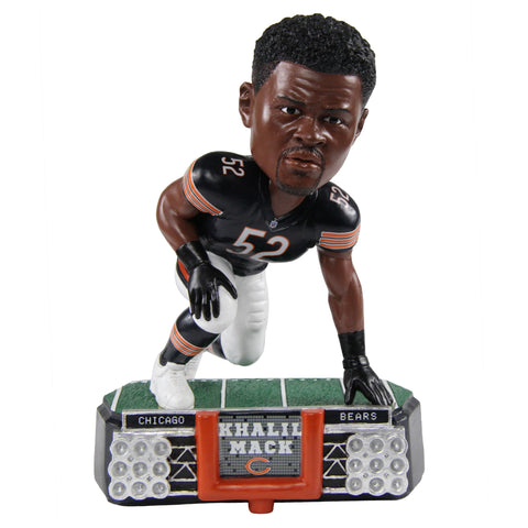 Chicago Bears Khalil Mack Stadium Lights Bobblehead By Forever Collectibles