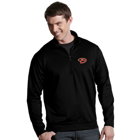 Antigua Men's Arizona Diamondbacks Leader Black Quarter-Zip Pullover