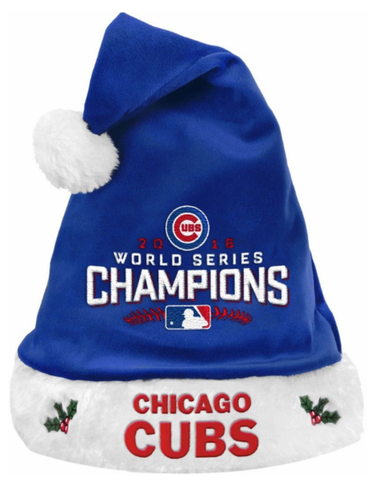 Chicago Cubs 2016 World Series Champions Santa Hat By Forever Collectibles