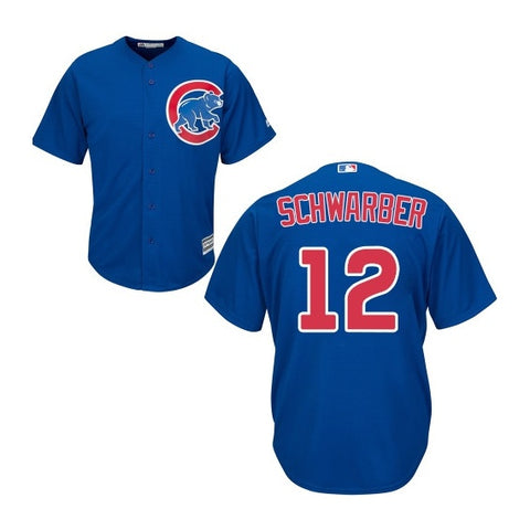 Kyle Schwarber Chicago Cubs Youth Screen Print Replica Blue Alternate Jersey