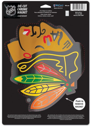 Chicago Blackhawks 6.25X9 Chrome Magnet By Wincraft