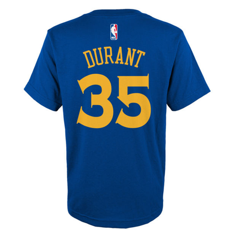Youth Kevin Durant Golden State Warriors Name & Number T-Shirt