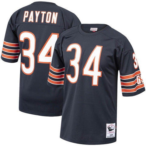 Men's Chicago Bears Walter Payton Mitchell & Ness Navy 1985 Authentic Throwback Retired Player Jersey