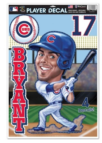 Kris Bryant Chicago Cubs Caricature Player Decal Sheet