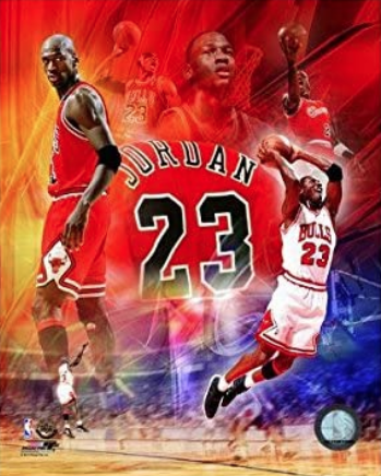 Chicago Bulls Michael Jordan 8x10 Collage Color Photo