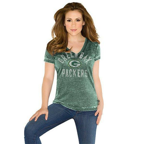 Women's Green Bay Packers Fire Drill T-Shirt -Touch by Alyssa Milano