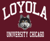 Mens Loyola University Chicago Maroon T-Shirt By Blue 84